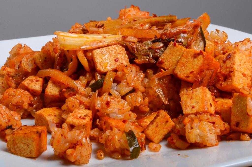 Kimchi Fried Rice with Tofu