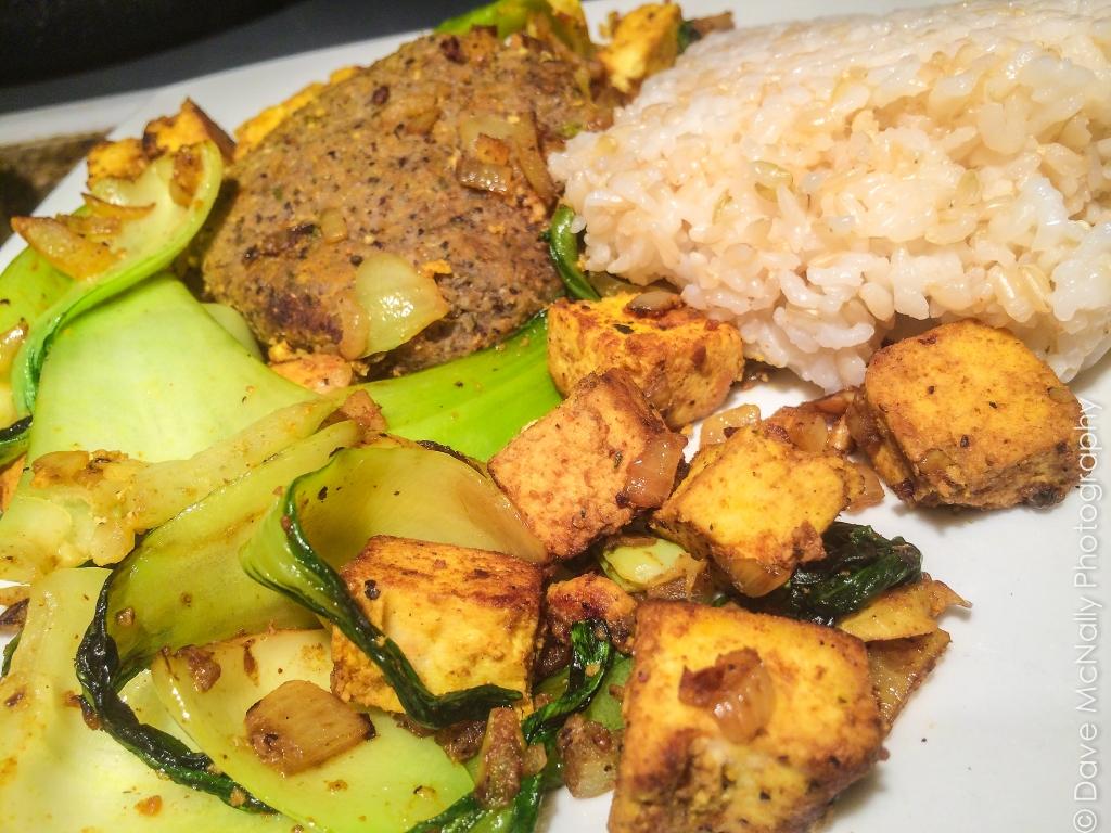 Dinner: Bok Choy-Tofu Stir Fry