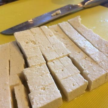 Homemade Extra Firm Tofu.