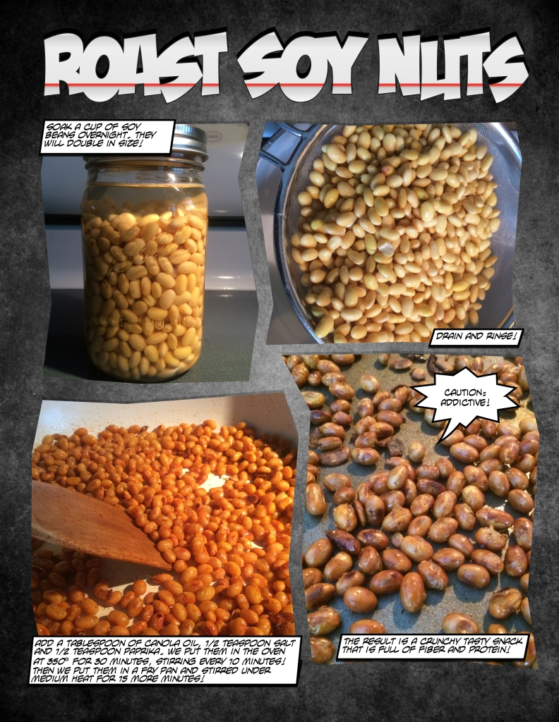 How to roast soy nuts.
