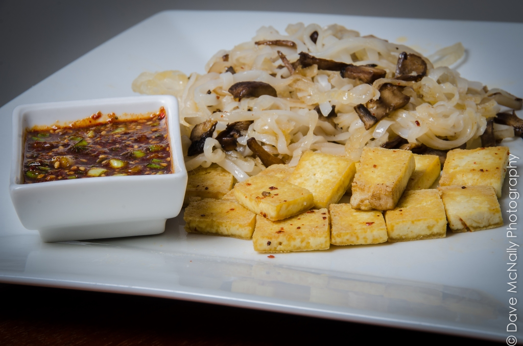 Breakfast: Fried Tofu with Rice Noodles