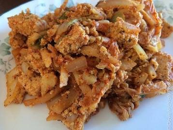 Homemade Tofu and Kimchi