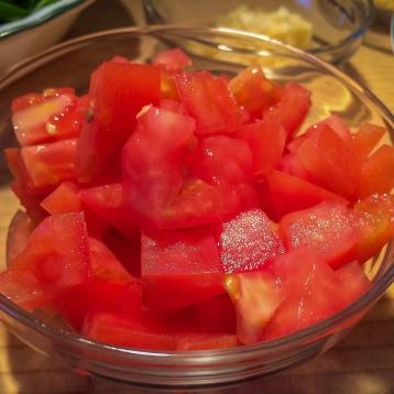 1 medium tomato, chopped.