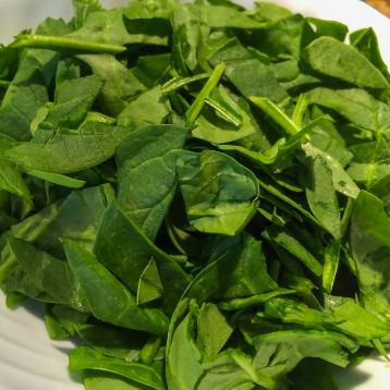 5 ounce baby spinach, coarsely chopped.