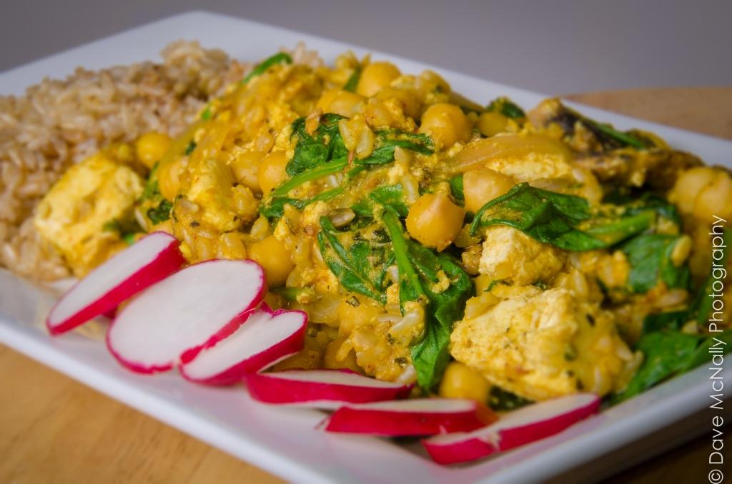 Chickpea and Tofu Curry Casserole