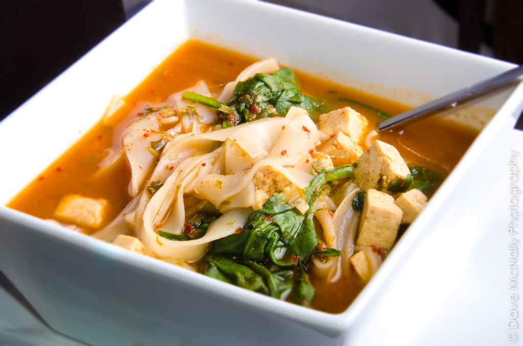 Spicy Noodle Tofu Soup