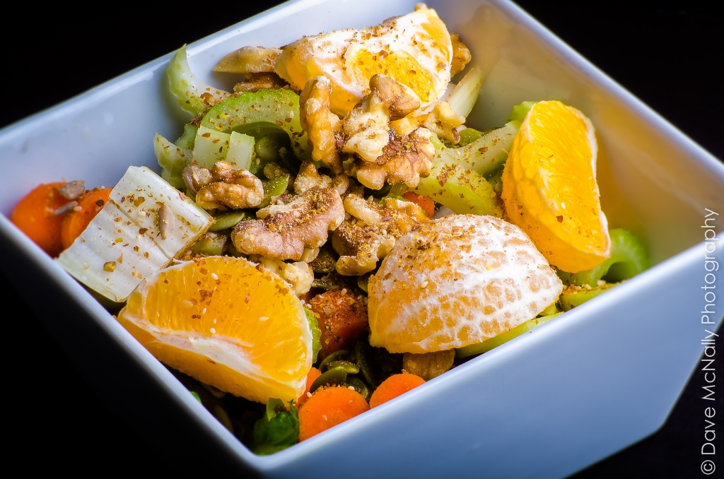 This is a tossed salad full of healthy ingredients!