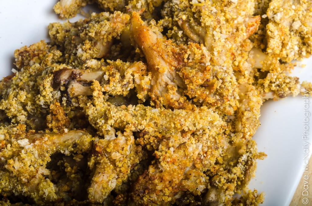 Baked Oyster Mushroom Calamari