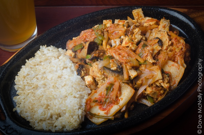 Kimchi stir fry with brown rice!
