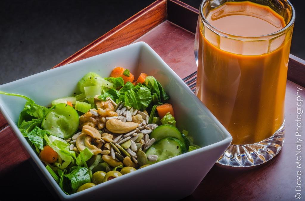 Salad with Carrot Juice!