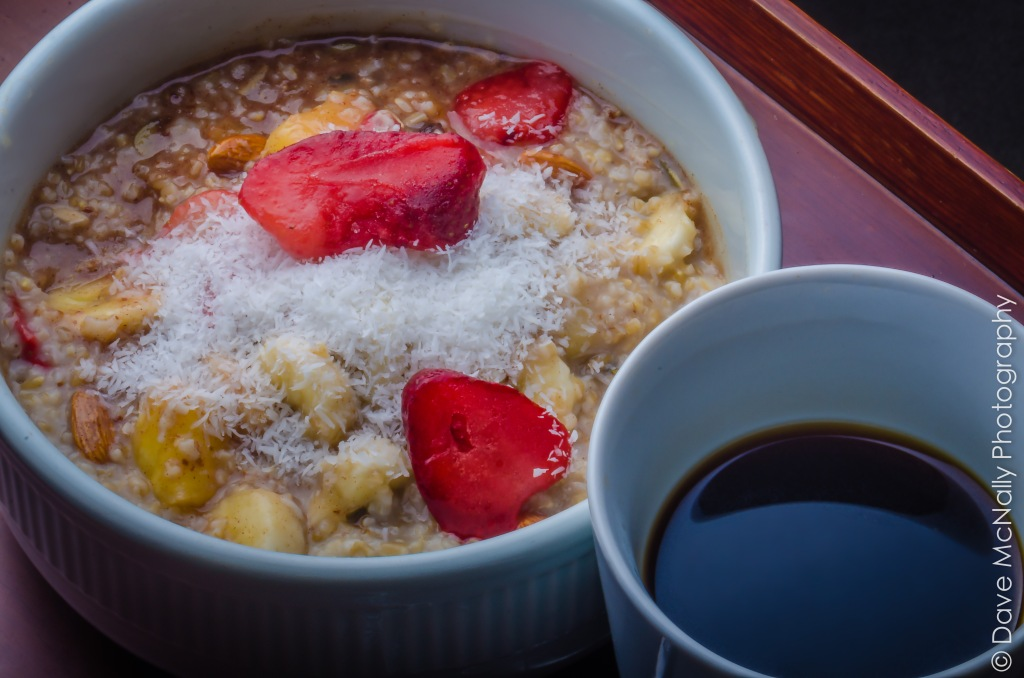 Fruit-filled Steel-cut Oatmeal!