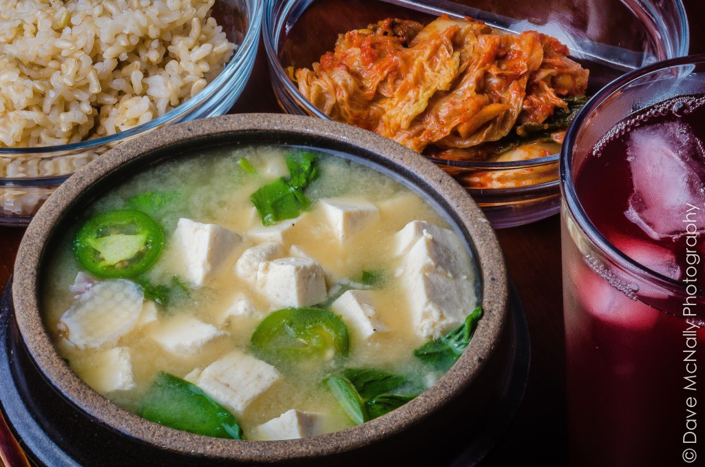 Miso Soup with Rice and Kimchi!