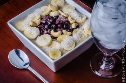 Blueberry-banana Oatmeal!