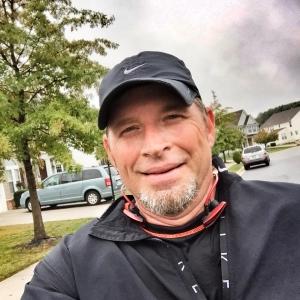 Still smiling after running 6.3 miles!