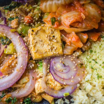 Tofu Stir Fry with Couscous