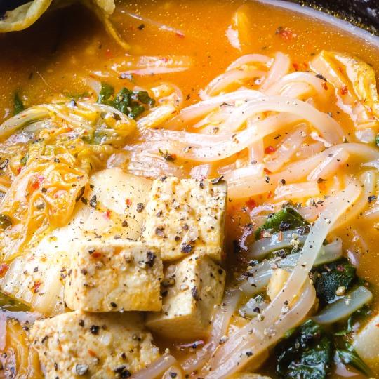 Spicy Vegan Kimchi Soup