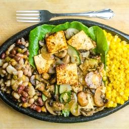 Vegan Stir Fry with Beans, Corn