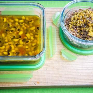Vegan Black-Eyed Pea Soup with Farro