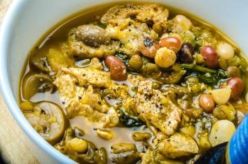 Vegan Bean Soup with Kale