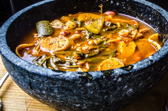 Spicy Bean and Mushroom Soup